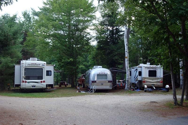 Rv Camping Timberland Campground Shelburne Nh